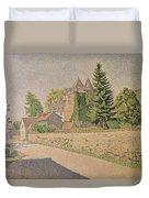 Chateau De Comblat Duvet Cover by Paul Signac