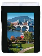 Chattanooga Landmarks Duvet Cover by Tom and Pat Cory