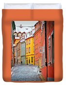 Cheb An Old-world-charm Czech Republic Town Duvet Cover by Christine Till