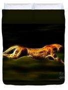 Cheetah Hunting His Prey Duvet Cover by Pamela Johnson