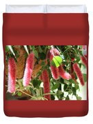 Chenille Caterpillar Plant Duvet Cover by Corey Ford
