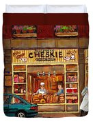 Cheskies Hamishe Bakery Duvet Cover by Carole Spandau