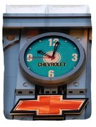 Chevy Times Square Clock Duvet Cover by Rob Hans