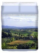 Chianti Region In Italy Duvet Cover by Gregory Ochocki and Photo Researchers
