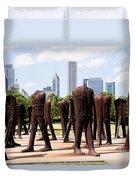 Chicago Agora Headless Statues Duvet Cover by Paul Velgos