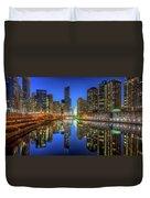 Chicago River East Duvet Cover by Steve Gadomski
