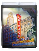 Chicago Theater Duvet Cover by Michael Durst