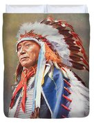 Chief Hollow Horn Bear Duvet Cover by American School
