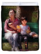 Children - Balanced Meal Duvet Cover by Mike Savad