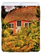 Children - The Children's Cottage Duvet Cover by Mike Savad