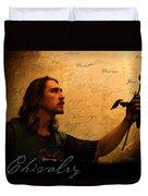 Chivalry Reborn Duvet Cover by Christopher Gaston