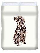 Chocolate Lab - Animal Art Duvet Cover by Anastasiya Malakhova