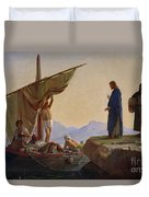 Christ Calling The Apostles James And John Duvet Cover by Edward Armitage