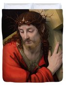 Christ Carrying The Cross Duvet Cover by Andrea Solario