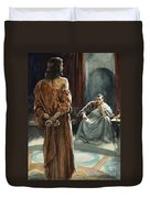 Christ In Front Of Pontius Pilate Duvet Cover by Henry Coller