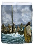 Christ walking on the Sea of Galilee Duvet Cover by Anonymous