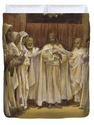 Christ With The Twelve Apostles Duvet Cover by Tissot