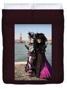 Christine And Gunilla Across St. Mark's  Duvet Cover by Donna Corless