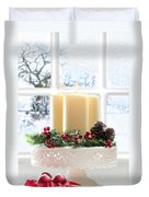 Christmas Candles Display Duvet Cover by Amanda And Christopher Elwell