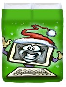 Christmas Office Party Duvet Cover by Kevin Middleton