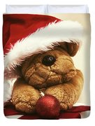 Christmas Teddy Bear Duvet Cover by Wim Lanclus
