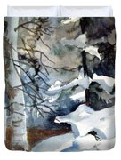 Christmas Trees Duvet Cover by Mindy Newman
