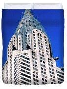 Chrysler Building Duvet Cover by John Greim