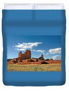 Church Abo - Salinas Pueblo Missions Ruins - New Mexico - National Monument Duvet Cover by Christine Till