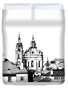 Church Of St Nikolas Duvet Cover by Michal Boubin