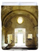 Church Ruin Duvet Cover by Carlos Caetano