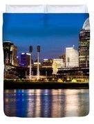 Cincinnati Skyline at Night  Duvet Cover by Paul Velgos