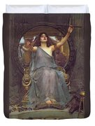 Circe Offering The Cup To Ulysses Duvet Cover by John Williams Waterhouse