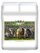 Civil War Generals And Statesman With Names Duvet Cover by War Is Hell Store