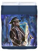 Clarence Clemons Duvet Cover by Clara Sue Beym