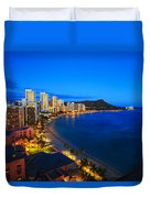 Classic Waikiki Nightime Duvet Cover by Tomas del Amo - Printscapes