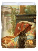 Cleopatra Testing Poisons on Those Condemned to Death Duvet Cover by Alexandre Cabanel