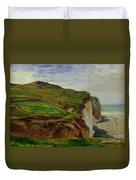 Cliffs Duvet Cover by Louis Eugene Gabriel Isabey