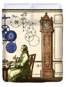 Clockmaker Duvet Cover by Photo Researchers