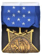 Close-up Of The Medal Of Honor Award Duvet Cover by Stocktrek Images