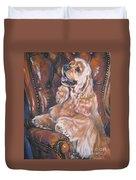 Cocker Spaniel On Chair Duvet Cover by Lee Ann Shepard