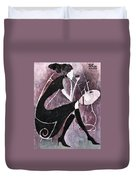 Coffee Time Duvet Cover by Maya Manolova