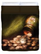 Collector - Coin - Treasure Quest  Duvet Cover by Mike Savad