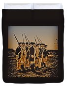 Colonial Soldiers On Parade Duvet Cover by Bill Cannon