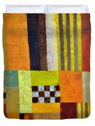 Color and Pattern Abstract Duvet Cover by Michelle Calkins