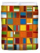 Color Study Collage 66 Duvet Cover by Michelle Calkins
