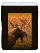 Colorado Moose Duvet Cover by James W Johnson