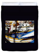 Colorful Boats Duvet Cover by Lainie Wrightson