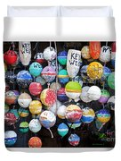 Colorful Key West Lobster Buoys Duvet Cover by John Stephens