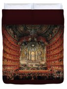 Concert Given By Cardinal De La Rochefoucauld At The Argentina Theatre In Rome Duvet Cover by Giovanni Paolo Pannini or Panini