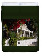 Conch House In Key West Duvet Cover by Susanne Van Hulst
